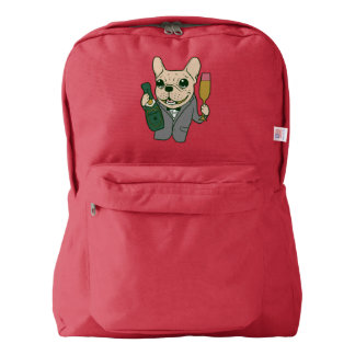 Enjoy Champagne with Frenchie at Your Celebration American Apparel™ Backpack