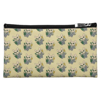 Enjoy Champagne with Frenchie at Your Celebration Cosmetic Bag