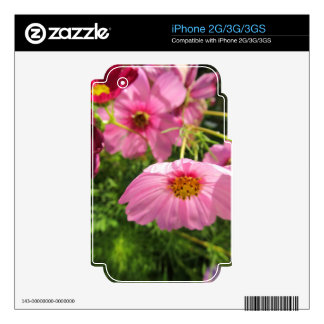 enjoy cheerful pink wildflowers iPhone 3GS decal