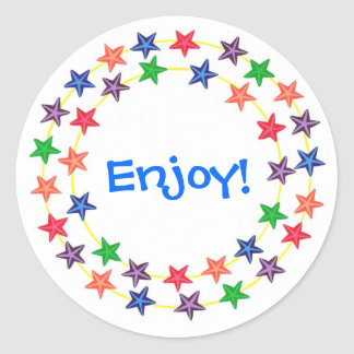 Enjoy, Circle of colorful stars stickers