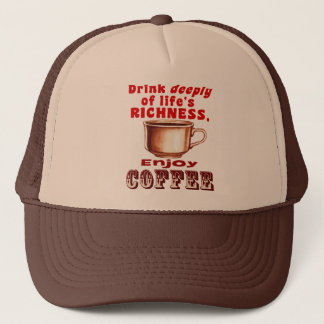 Enjoy Coffee Trucker Hat