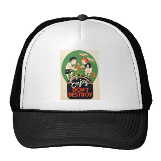 Enjoy Don t Destroy Trucker Hat