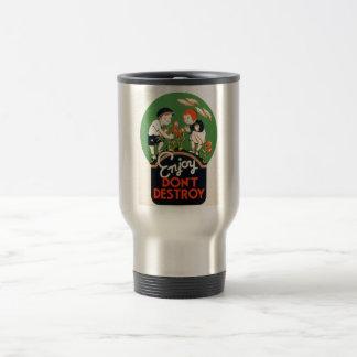 Enjoy Don't Destroy - Go Green Earth! 1937 Travel Mug