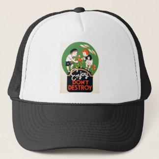 Enjoy Don't Destroy - Go Green Earth! 1937 Trucker Hat