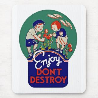 Enjoy Don't Destroy Mouse Pad
