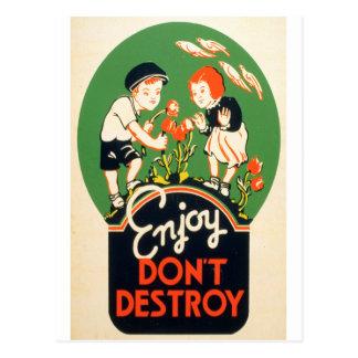 Enjoy, Don't Destroy Postcard