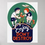 Enjoy Don't Destroy Poster