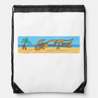 Enjoy Good Times Beach Logo Drawstring Bag