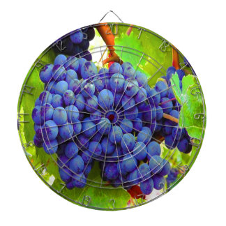 Enjoy harvest season blue grapes dart board