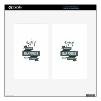 Enjoy homemade happiness, now gluten free decal for kindle fire