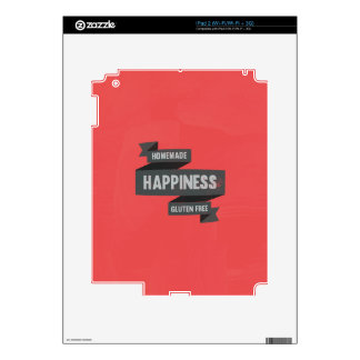 Enjoy homemade happiness, now gluten free decals for iPad 2