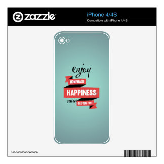 Enjoy homemade happiness, now gluten free decals for iPhone 4
