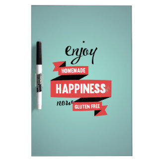 Enjoy homemade happiness, now gluten free Dry-Erase board