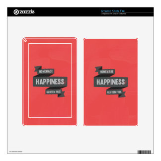 Enjoy homemade happiness, now gluten free kindle fire decal