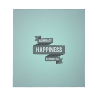 Enjoy homemade happiness, now gluten free note pad