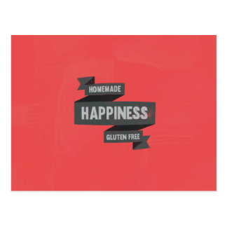 Enjoy homemade happiness, now gluten free postcard