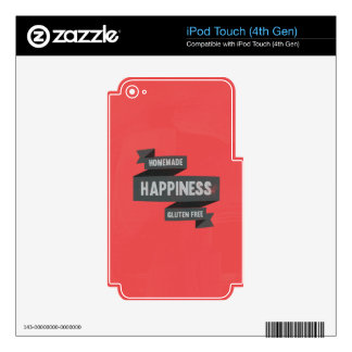 Enjoy homemade happiness, now gluten free skins for iPod touch 4G
