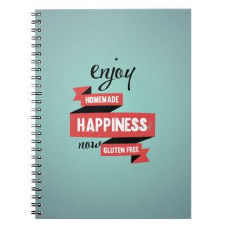 Enjoy homemade happiness, now gluten free spiral notebook
