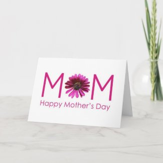 ENJOY-IT IS YOUR DAY MOM (MOTHER'S DAY) zazzle_card