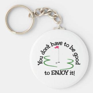 Enjoy It! Basic Round Button Keychain
