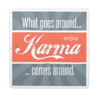 Enjoy Karma Puzzle Coaster