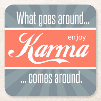 Enjoy Karma Square Paper Coaster