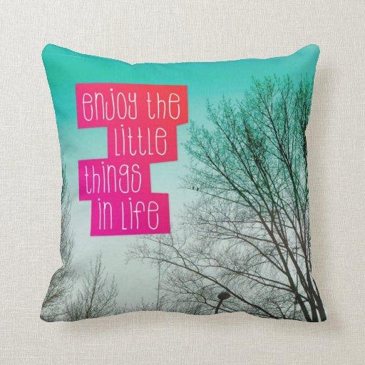 Enjoy life art typography gift home deco pillow