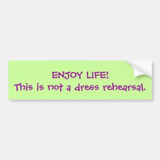ENJOY LIFE! CAR BUMPER STICKER