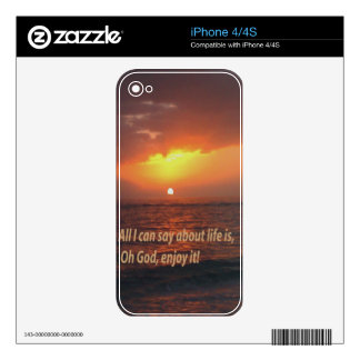 Enjoy LIfe Decal For The iPhone 4