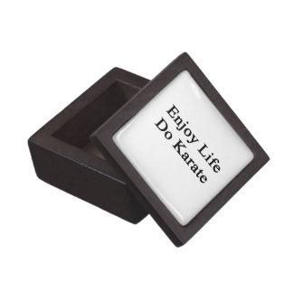 Enjoy Life Do Karate Premium Jewelry Boxes
