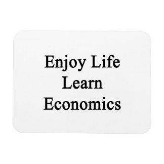 Enjoy Life Learn Economics Rectangular Photo Magnet