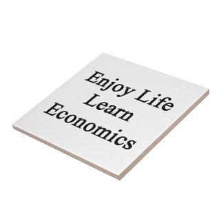 Enjoy Life Learn Economics Small Square Tile