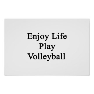 Enjoy Life Play Volleyball Poster