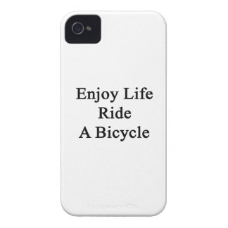 Enjoy Life Ride A Bicycle iPhone 4 Case-Mate Case