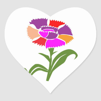 Enjoy Life -  SHARE JOY with Flowers Heart Sticker