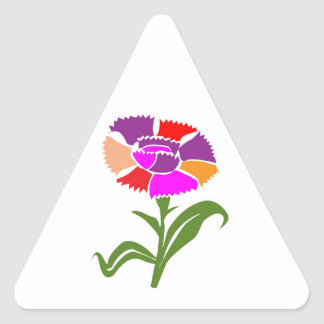 Enjoy Life -  SHARE JOY with Flowers Triangle Sticker