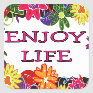 ENJOY LIFE SQUARE STICKER
