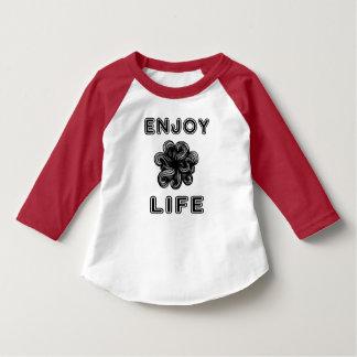"""""""Enjoy Life"""" Toddler 3/4 Sleeve Raglan T-Shirt"""