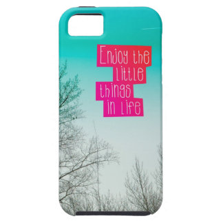 Enjoy little things in life mindfulness quote case iPhone 5 covers