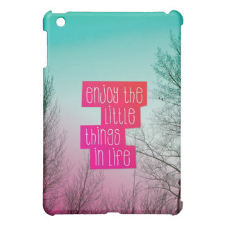 Enjoy little things quote text ipad mini case