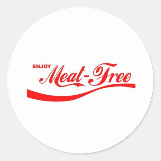 Enjoy Meat-free Classic Round Sticker