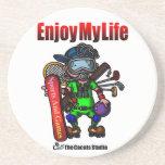 Enjoy my life ドリンク用コースター
