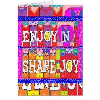 ENJOY n Share JOY .. by Naveen Joshi Card