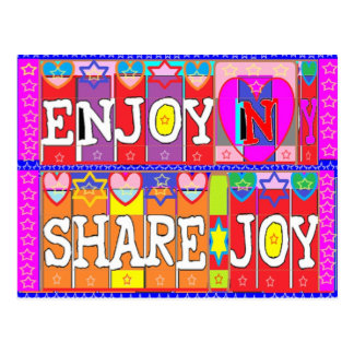ENJOY n Share JOY .. by Naveen Joshi Postcard