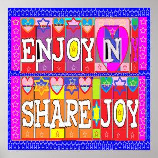 ENJOY n Share Joy by Naveen Joshi Print
