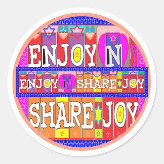 ENJOY n Share JOY .. by Naveen Joshi Sticker