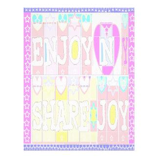 Enjoy n Share Joy- Soft L/H Print Letterhead