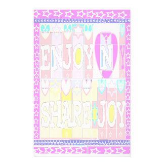 ENJOY n SHARE JOY: Special Soft Colors Stationery Paper