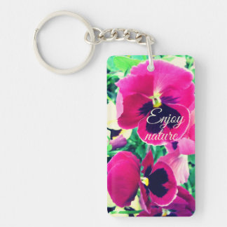 Enjoy nature keychain