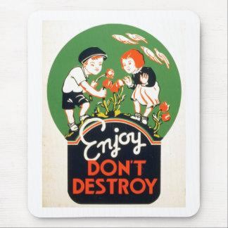 ¡Enjoy no destruye - va la tierra verde! 1937 Tapetes De Ratones